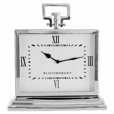 Fifty Five South Hampstead Stainless Steel Mantle Clock