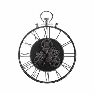 Hampstead Steampunk Pocket Style Wall Skeleton Open Gears Wall Clock