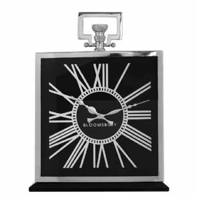 Kensington Stainless Steel Framed Town House Mantle Clock