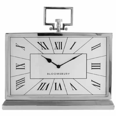 Fifty Five South Stainless Steel Kensington Town House Mantle Clock