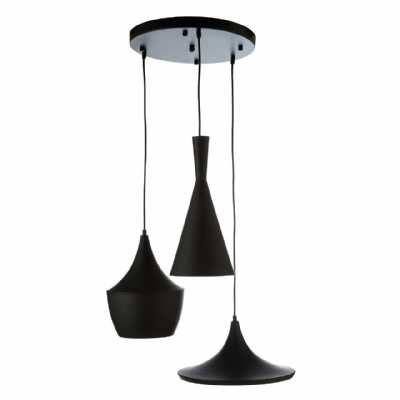 Vintage Style Mensa Black Finished Aluminium Iron Frame Ceiling Light