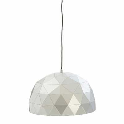 Vintage Geometric Mateo Small Silver Finish Steel Dome Pendant Light