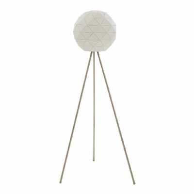 Modern Retro Mateo White Finish Metal Steel Floor Lamp On Tripod Legs