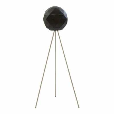 Modern Retro Mateo Black Finish Metal Steel Floor Lamp On Tripod Legs