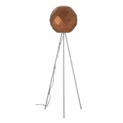 Modern Retro Mateo Brown Coffee Finish Steel Floor Lamp On Tripod Legs