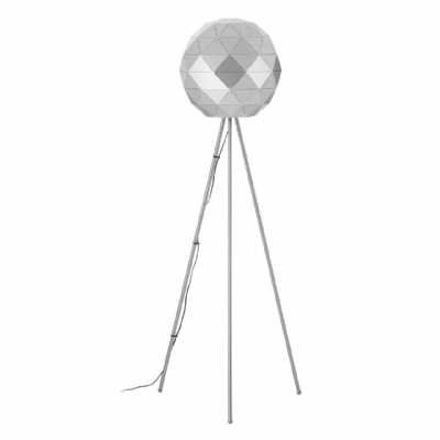 Modern Retro Mateo Silver Finish Steel Metal Floor Lamp On Tripod Legs