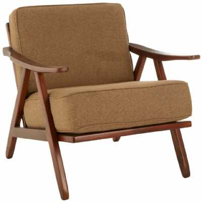 Fifty Five South Kendari Teak Wood And Fabric Chair