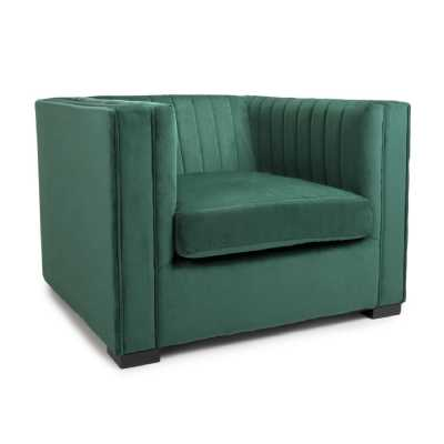 Victoria Brushed Velvet Green Armchair