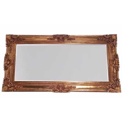 Ornate May Wall Mirror Rectangular Gold Frame