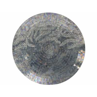 Blue Fauna Motif Mosaic Decorative Disc Wall Art