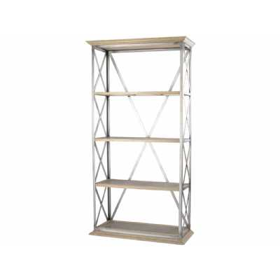 Homestead Iron Cross Frame Tiered Shelving Unit Industrial Display