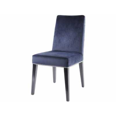 Modern Mayfair Midnight Navy Velvet Dining Chair with Stud Detail
