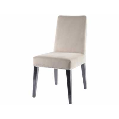 Modern Mayfair Taupe Velvet Dining Chair with Stud Detail