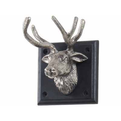 Buckden Silver Stag 1 Wall Hook