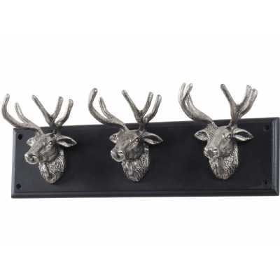 Buckden Silver Stag 3 Wall Hook