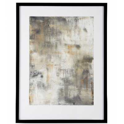 Hazy Abstract Mink Framed Portrait Print By Soozy Barker