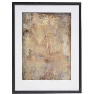 Gold Stone Framed Print By Soozy Barker Abstract Wall Art