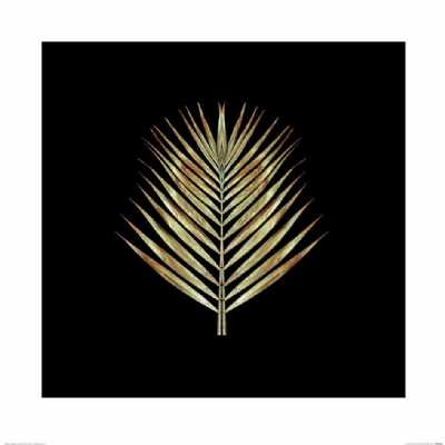 Contemporary Gold Deco Palm Framed Print By Alyson Fennell
