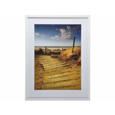 West Wittering Print By Helen Dixon in White Pine Frame