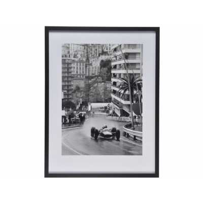 Classic Monaco Grand Prix Framed Print Black and White