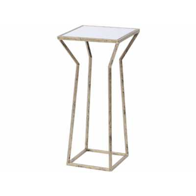 Mylas Small Square Side Table With Mirrored Top