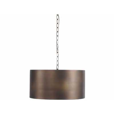 Homestead Vintage Bronze Drum Pendant Light with Chain E27 40W