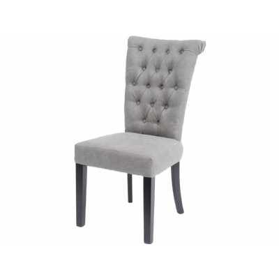 Jansen Light Grey Dining Chair with Button Back Detailing