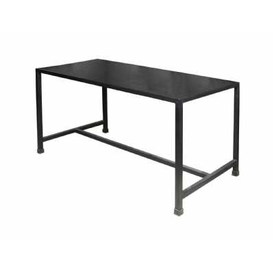 Moretti Rectangular Dining Table with Black Italian Slate Effect Top
