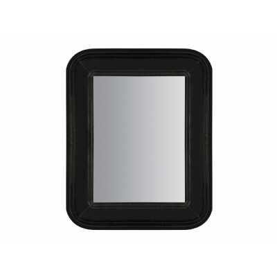 Moretti Rectangular Wall Mirror with Matt Black Wooden Frame