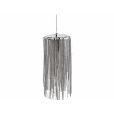 Strand Small Pendant Cascading Silver Chain Ceiling Light GU10 50W