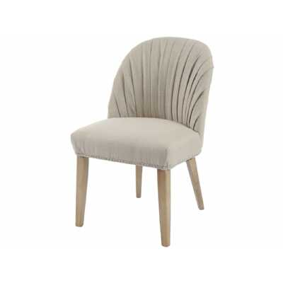 Tenby Natural Pleated Linen Blend Dining Chair