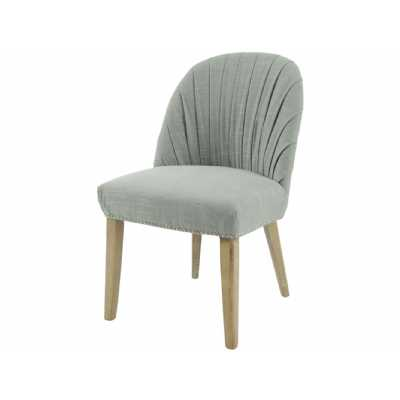 Tenby Grey Pleated Linen Blend Dining Chair