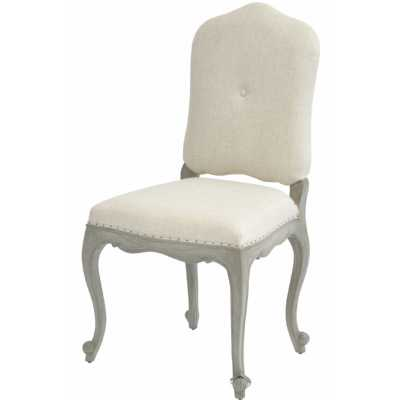 Fairmont Mindi Wood Dining Chair French Style with Creme Ville Fabric