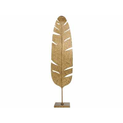 Romana Aged Gold Banana Leaf Large Floor Sculpture