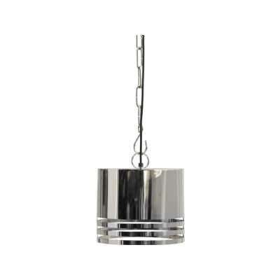 Destino Duo Silver Oval Shade Hanging Lamp Ceiling Light