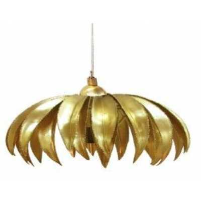 Polished Brass Metal Palm Tree Pendant Ceiling Light