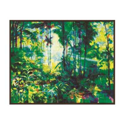 Tropical Rainforest Canvas Wall Art by Doug Eaton Framed
