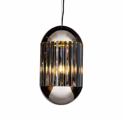 Neptune Small Smoked Pendant with Electro Plated Nickel E14 40W