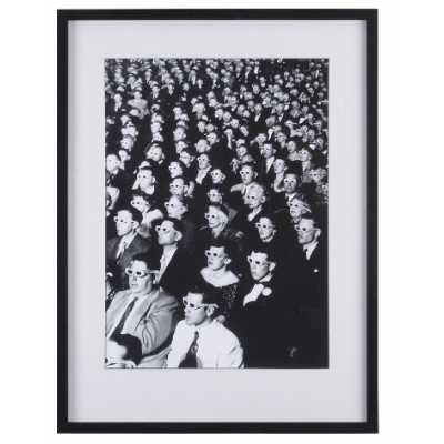 Cinematic 3D Movie Viewers Black and White Print in Black Frame