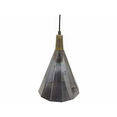 Odessa Large Faceted Cone Pendant Light E27 25W 1