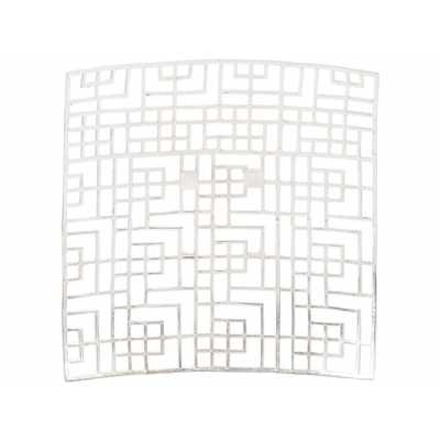 Timor Silver Grid Square Wall Art