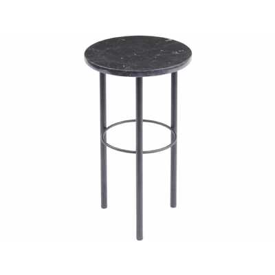 Chancery Marquina Marble Side Table