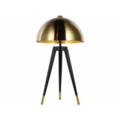 Corvus Tripod Table Lamp with Brass Shade E27 40W 1