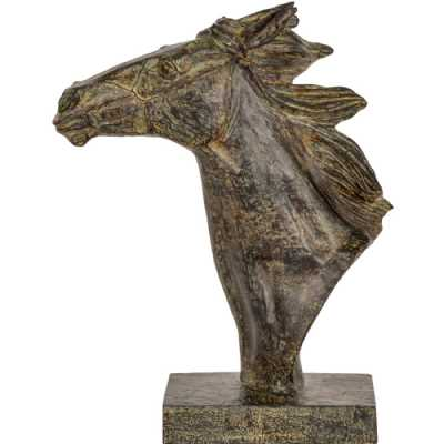 Pegasus Verdigris Resin Horse Sculpture