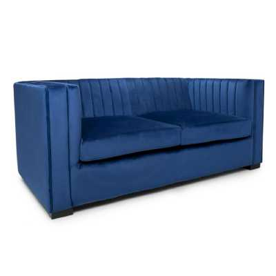 Victoria 2 Seater Brushed Velvet Ocean Blue Sofa