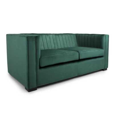 Victoria 2 Seater Brushed Velvet Green Sofa