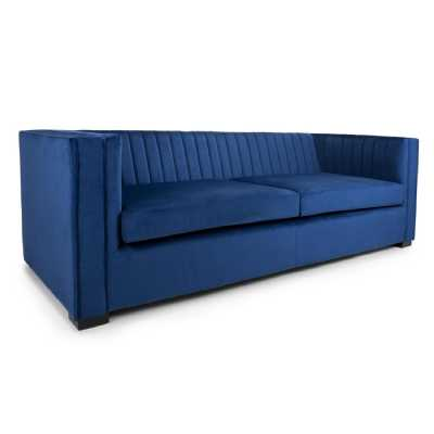 Victoria 3 Seater Brushed Velvet Ocean Blue Sofa