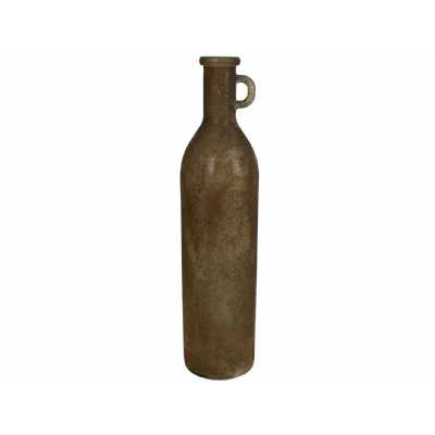 Classic Recycled Glass Tall Vase in Brown