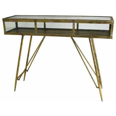 Cohan Console Table in Gold