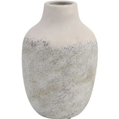 Textured Ceramic Vase in Grey Small